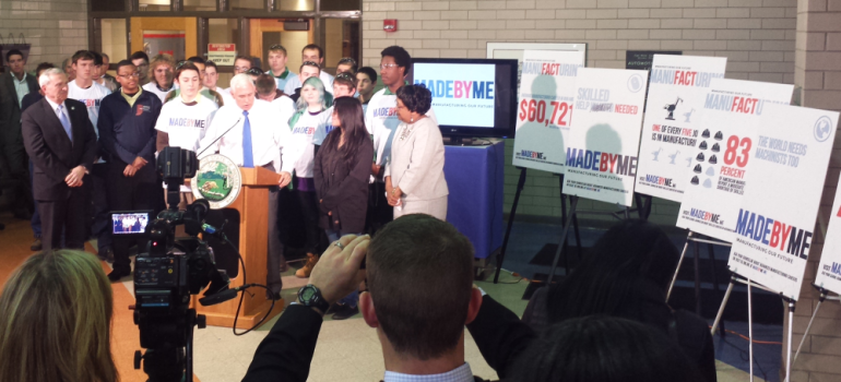 Gov. Pence introduces MADEBYME campaign