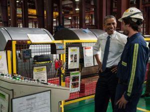 Pres. Obama visits Princeton, IN